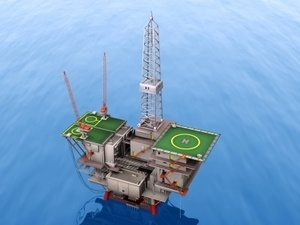 Oil platform represents hugh petroleum reserves