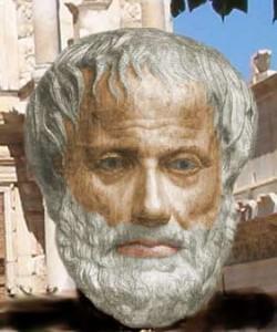 Computer image of Aristotele generated by Kolja Mendler
