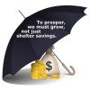 To prosper, we must grow, not just shelter savings.