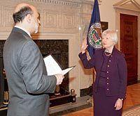 Janet Yellen swearing in 2010